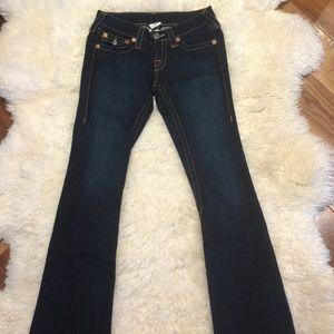 True Religion Dark Wash Flare Jeans